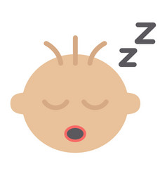 baby boy sleep flat icon child and infant vector image vector image