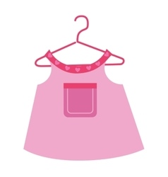 Baby clothes and wear theme design vector image