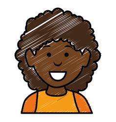 Black beautiful woman avatar character vector
