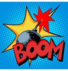 Boom bomb blast comic style vector