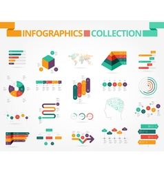 Business and social infographics design elements vector image