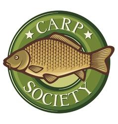 Carp society symbol vector