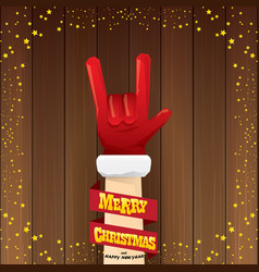 Cartoon santa claus rock n roll style with vector