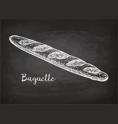 chalk sketch of bagette vector image vector image