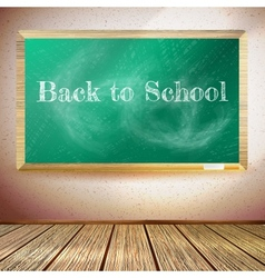 Chalkboard with back to school text eps10 vector
