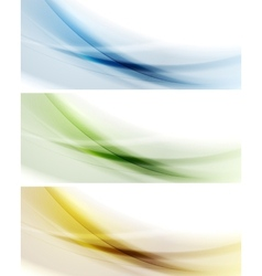 Colorful banners gradient mesh vector