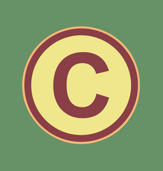 Copyright sign cordovan icon vector