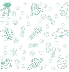 Doodle art of space vector