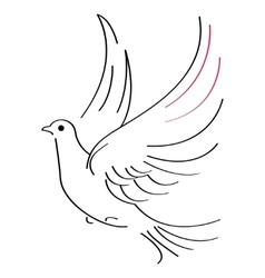 Dove sketch vector image