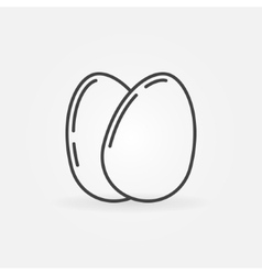 Eggs outline icon vector
