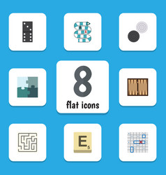 Flat icon games set of dice bones game vector