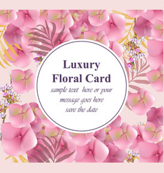 flowers luxury design card background for vector image vector image