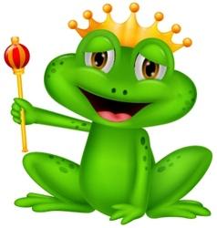 Frog king cartoon vector image