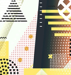 Geometric symbols background memphis for fashion vector image