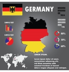 Germany Country Infographics Template vector image