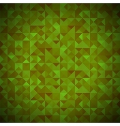 Green Background with Geometric Shapes Triangles vector image