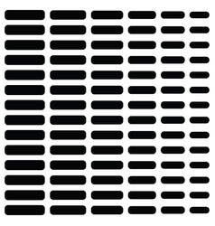 Halftone black element in rows on white vector