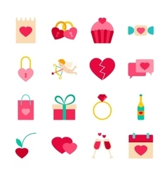 Happy valentines day objects vector