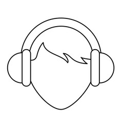 heaphones icon image vector image vector image
