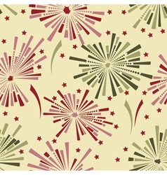Holiday fireworks seamless background vector image