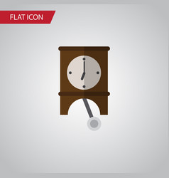 Isolated pendulum flat icon clock element vector