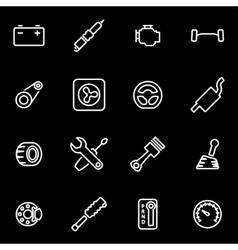 line car parts icon set vector image