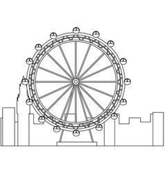 london ferris wheel recreation landmark and vector image