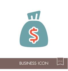 money bag outline icon finances sign vector image vector image