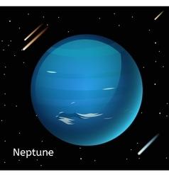 Neptune planet 3d vector