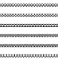 Ornamental line divider design set vector