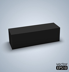 Package black box design vector image