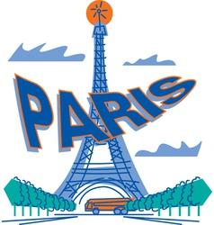 Paris Poster vector image vector image