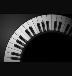 Piano keys on black background for design vector