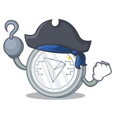 Pirate tron coin character cartoon vector