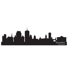 Quebec Canada skyline Detailed silhouette vector image