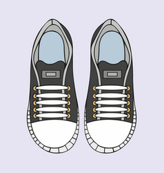 Sneakers stylized for design vector