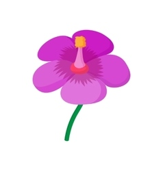 Violet flower icon cartoon style vector