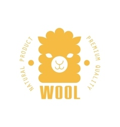 Wool yellow product logo design vector