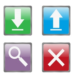Useful internet buttons vector