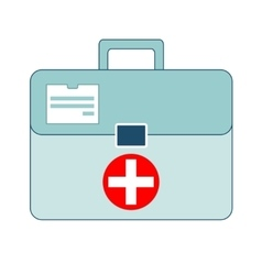 First aid box on white background vector