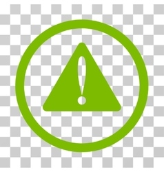 Warning error rounded icon vector