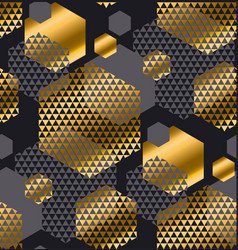 Gold and gray color creative repeatable motif with vector