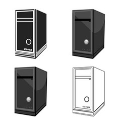 system unit icon in cartoon style isolated on vector image