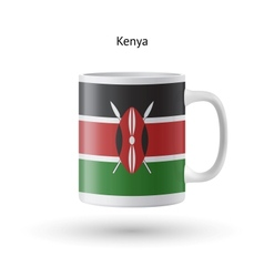 Kenya flag souvenir mug on white background vector