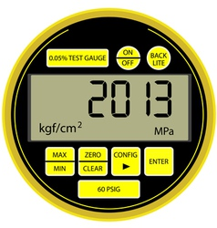 2013 New Year digital gas manometer vector image