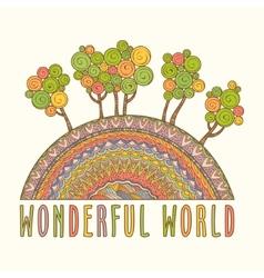 Wonderful world vector