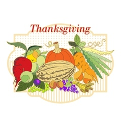 Thanksgiving vector image