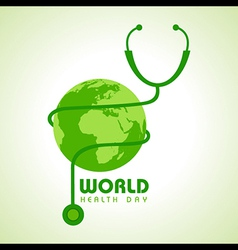 Creative world health day greeting vector