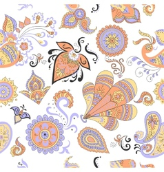 Colored Indian vintage floral seamless vector image