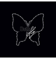 Diamonds butterfly with text logo vector